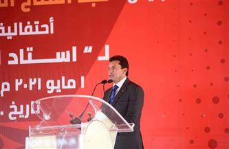 وزير الرياضة: وضع حجر أساس إستاد الأهلي إنجاز كبير