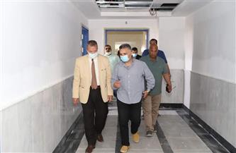 رئيس جامعة السويس يتابع الإنشاءات والتشطيبات بالمستشفى الجامعي |صور