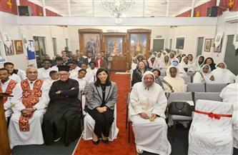 سفيرة مصر فى نيوزيلندا تشارك فى قداس عيد القيامة المجيد بالكنيسة القبطية الأرثوذوكسية