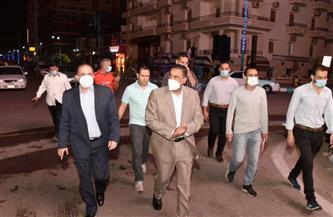 محافظ مطروح يتفقد أعمال الرش والتطهير بشوارع مرسى مطروح