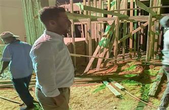 جهاز 6 أكتوبر ينفذ حملة إزالة ليلية لمخالفات بناء| صور
