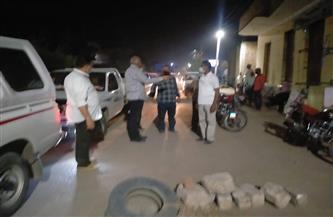 تحرير 22 محضر مخالفة عدم ارتداء الكمامة و23 للباعة الجائلين وإزالات بالقرنة غرب الأقصر  صور