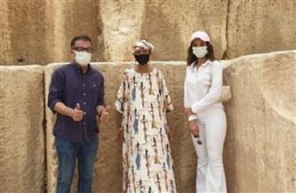جلوريا والكر: شكرًا للمصريين على حسن الاستقبال.. وأتمنى أن أزور مصر مرة أخرى