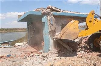 إزالة 355 حالة تعد ضمن الموجة الـ17 لإزالة التعديات على النيل في بني سويف