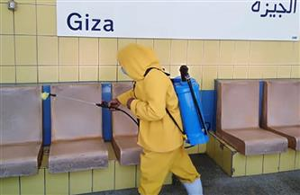 شركة المترو تواصل تطهير وتعقيم المحطات والقطارات بالخطوط الثلاثة لمكافحة كورونا