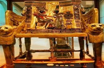 معلومات جديدة عن كرسي العرش للملك توت عنخ آمون