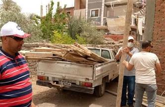 إزالة 9 حالات تعد على الأرض الزراعية بالشرقية | صور
