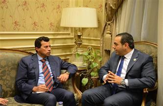وزير الرياضة ومحمود حسين يشكران الرئيس السيسي بعد توجيهاته لبناء إستاد بورسعيد