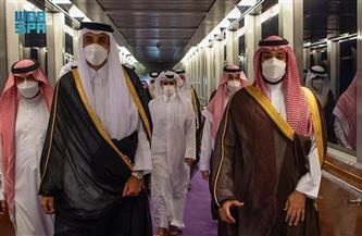 ولي العهد السعودي يستقبل أمير دولة قطر