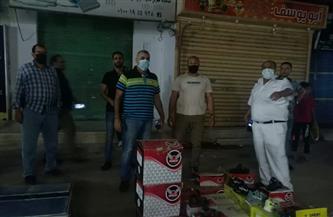 تحرير 121 محضرا للمخالفين من أصحاب المحال والمقاهي بكفرالشيخ  صور