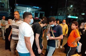 تحرير 10 محاضر غرامات فورية لغير الملتزمين بارتداء الكمامات بمدينة الباجور| صور