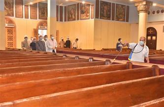 محافظ أسيوط يتفقد أعمال تطهير دور العبادة ومحطات الأتوبيس والبنوك | صور