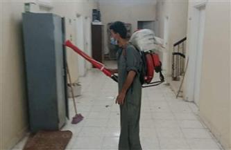 تعقيم وتطهير مبنى مجلس مدينة البياضية بالأقصر وتحرير محاضر كمامة وإزالة | صور