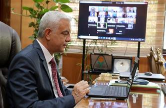 رئيس جامعة المنوفية يشارك فى الشبكة القومية للتنمية المستدامة والحوكمة   صور