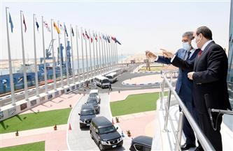 المتحدث الرئاسي ينشر صور تفقد الرئيس السيسي لهيئة قناة السويس وافتتاح عدد من المشروعات