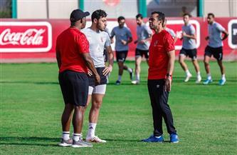 «موسيماني» يعقد جلسة مع أكرم توفيق ومحمد هاني
