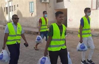 مستقبل وطن يستكمل توزيع السلع الغذائية بمدينة سفاجا| صور