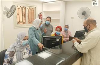 رئيسة مدينة دسوق تتابع تشغيل مركز خدمة المواطنين للبطاقات التموينية | صور