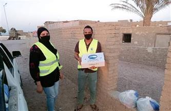 «مستقبل وطن» يواصل المرحلة الثانية من توزيع السلع الغذائية بمدينة رأس غارب | صور