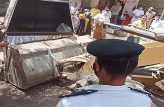 رفع 20 حالة إشغال طريق في حملة بشوارع وسط الإسكندرية