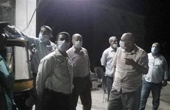 غلق 3 مقاه ومحاضر لعدم ارتداء الكمامة في حملة ليلية بمركز طما  صور
