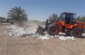إزالة تعدٍ على أرض زراعية بمدينة أرمنت بالأقصر | صور