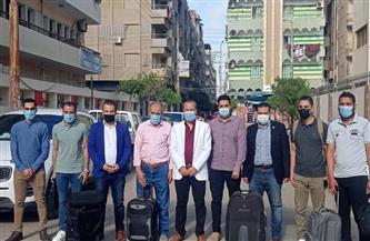 وفد طبي يغادر الدقهلية لمساعدة مصابي غزة بمستشفى العريش