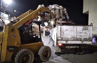 تكثيف أعمال النظافة ورفع القمامة من شوارع حى غرب سوهاج| صور