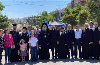 وفد من رجال الدين المسيحي في زيارة تضامنية لحي الشيخ جراح| صور