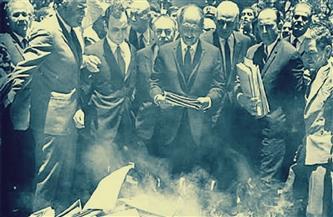 """من """"أرشيف الأهرام"""".. السادات يُعلن """"ثورة التصحيح"""" فى خطاب ارتجالى والشعب يقول كلمته"""