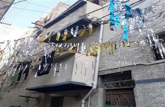 انهيار جزئي لعقار بمنطقة دربالة في الإسكندرية | صور
