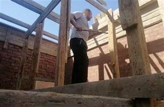 إزالة فورية لبناء مخالف بمركز المراغة في سوهاج