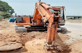 «مياه القناة» تتابع أعمال الإصلاح بالتل الكبير