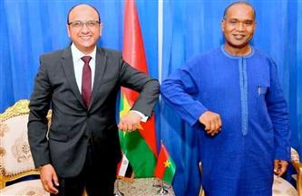 سفير مصر في واجادوجو يلتقي وزير الخارجية والتعاون والاندماج الإفريقي البوركيني