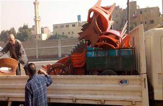 تحرير محاضر إشغالات ومضبوطات في حملة على مدينة إسنا في الأقصر