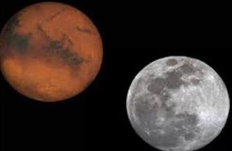 على مدار يومين.. القمر يقترن بالمريخ