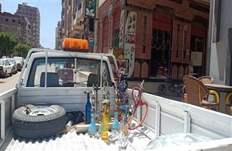 حملة نظافة بمساكن الأوقاف في كفر الشيخ وغلق 3 مقاه ومصادرة 16 شيشة بدسوق