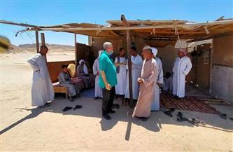رئيس مدينة مرسى علم  يتفقد القرى جنوب المدينة