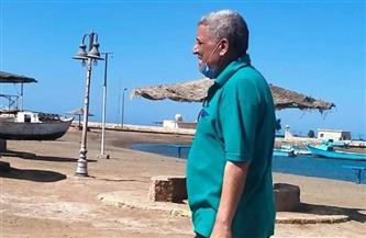 رئيس مدينة مرسى علم  يتفقد الشواطئ العامة ومستشفى جراحات اليوم الواحد