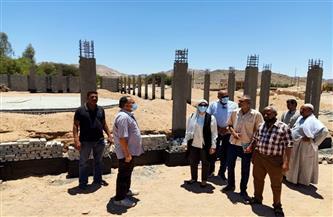 رئيس مدينة سفاجا تتفقد مشروعات حياة كريمة بقرية النصر