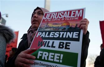 تظاهر آلاف العراقيين احتجاجا على الاعتداءات الإسرائيلية على الفلسطينيين