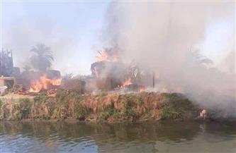 """حريق """"العضايمة"""" بالأقصر.. وفاة رجل إطفاء وتفحم 4 منازل و16 حوشًا"""