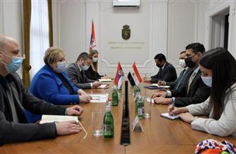 سفير مصر ببلجراد يبحث التعاون الثنائى مع وزيرتى الاقتصاد والتجارة والسياحة والاتصالات بصربيا|صور