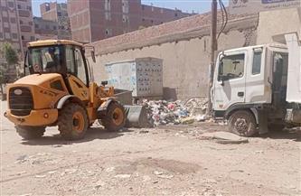 رفع 140 طن قمامة من مركز شبراخيت
