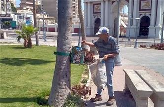 حملة لتجميل الحدائق وسط الإسكندرية استعدادًا للموسم الصيفي | صور