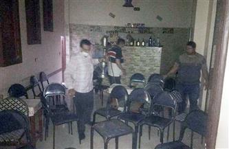 غلق مطعم و3 مقاه مخالفين للإجراءات الاحترازية بالشرقية| صور