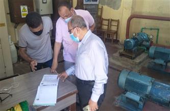 رئيس مياه الإسكندرية يتابع الفروع الإدارية والمحطات للتأكد من كفاءة التشغيل| صور