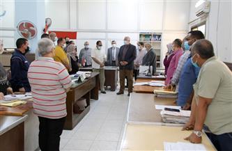 وزير الزراعة يتفقد إدارة حماية الأراضي ويشيد بجهود خدمة المواطنين خلال إجازة العيد | صور