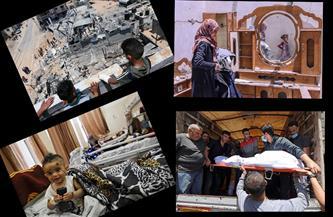 سكّان غزة والضفة يبحثون عن أحياء تحت الأنقاض وأسرّة المستشفيات تلطخها الدماء  | صور