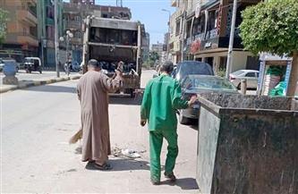 رفع 35 طن قمامة في حملة نظافة بمدينة الباجور بالمنوفية